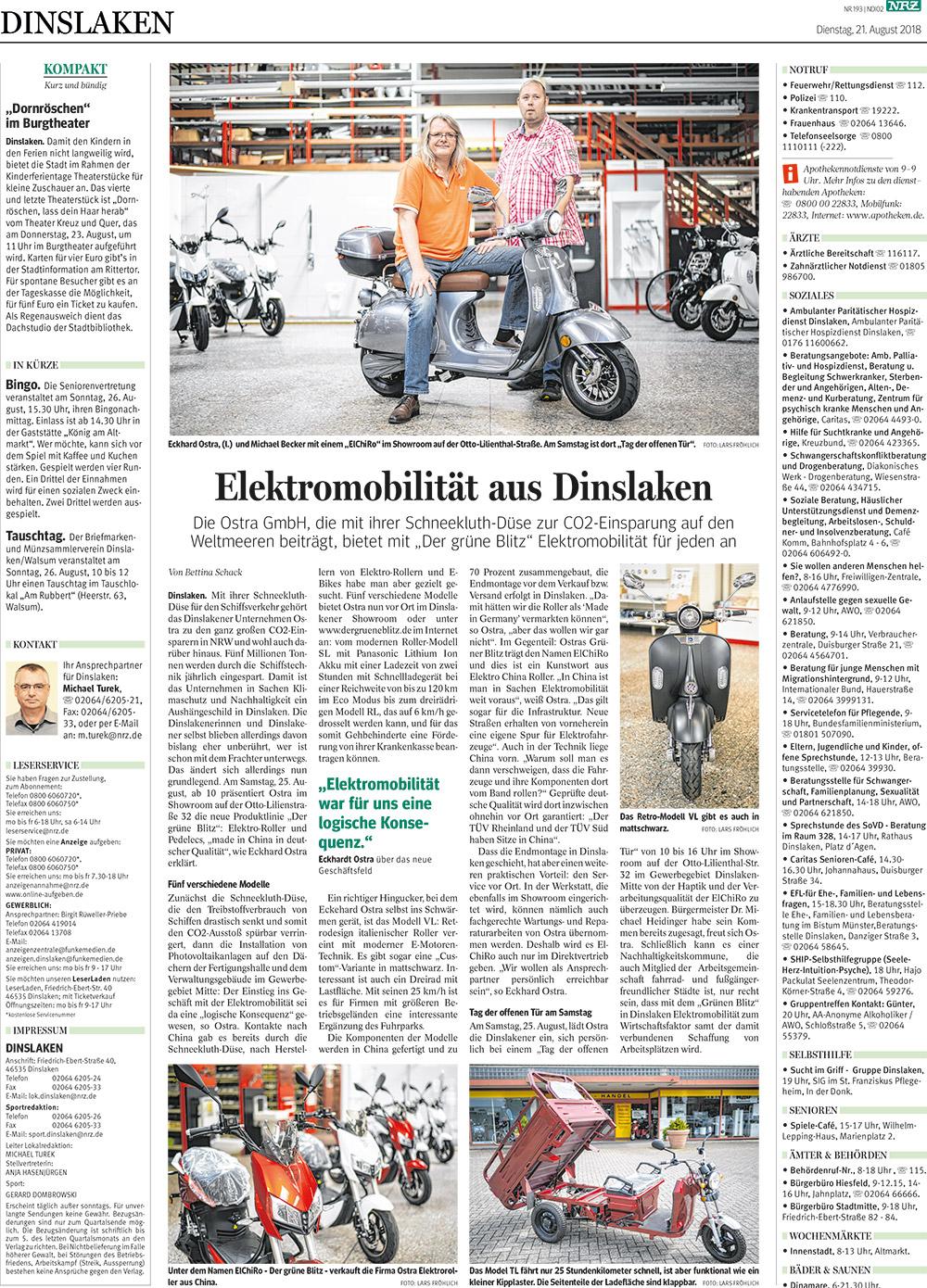 Pressebericht vom 21. August 2018